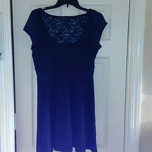 American Eagle Outfitters Navy cap sleeve dress